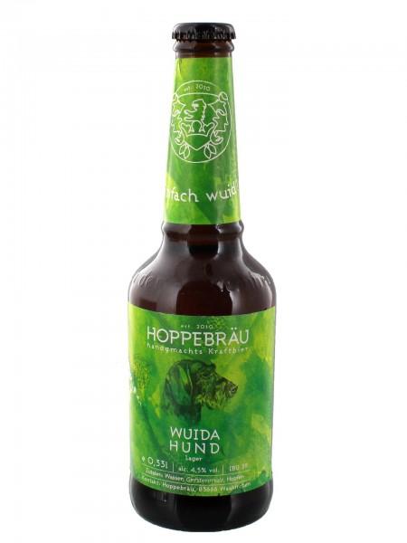 hoppebraeu-wuida-hund-flasche