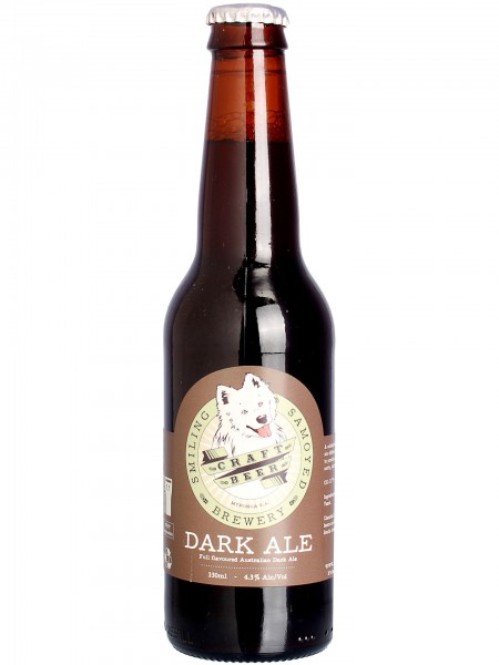 smiling-samoyed-dark-ale-flasche